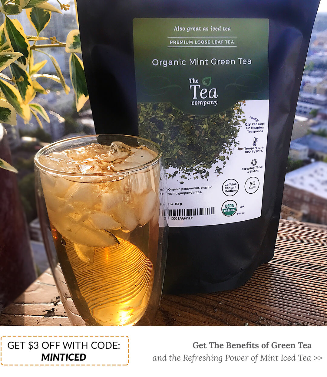 Organic Mint Green Iced Tea